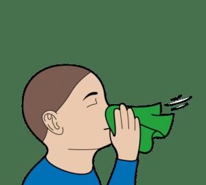 snuit je neus voordat je aan de corona zelftest begint