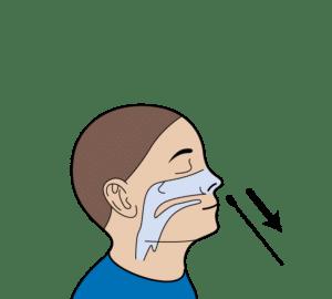 verwijder het wattenstaafje uit de neus
